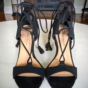 NWOT Christian Siriano Faux Suede Strappy Heel